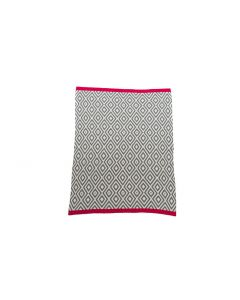Niu Org. Cotton Blanket Geo Pattern Red
