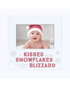 Pearhead Holiday Photo Plaque White