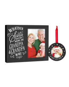 Pearhead Holiday Frame&Ornament Set Grandparents