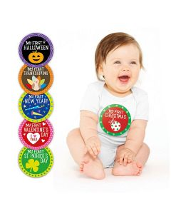 Pearhead Baby Holiday Stickers Neutral