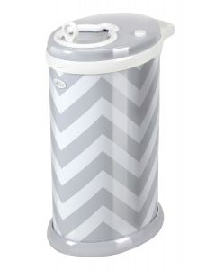 Ubbi Diaper Pail Grey Chevron