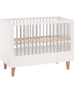 Vox Cot Bed 70X140 Concept Baby White/Grey
