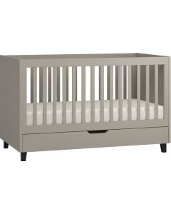 Vox Cot Bed 70X140 + Drawer Simple Grey/Grey