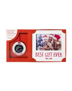 Pearhead Holiday Frame & Ornament Set Baby